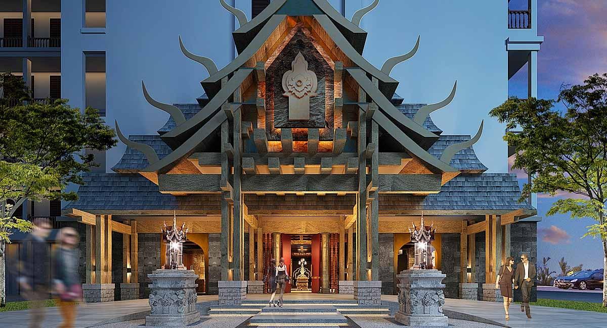 星级酒店设计门头打造